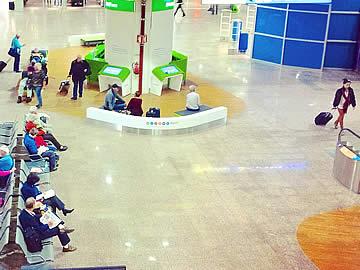 Terminal - Zugang zu den Einstiegstoren