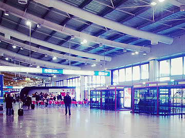 Terminal - entrance and exit to the arrivals area