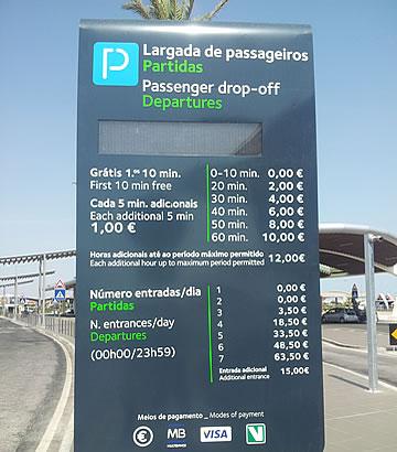 Kiss & Fly Stoppbereich - Abfahrten